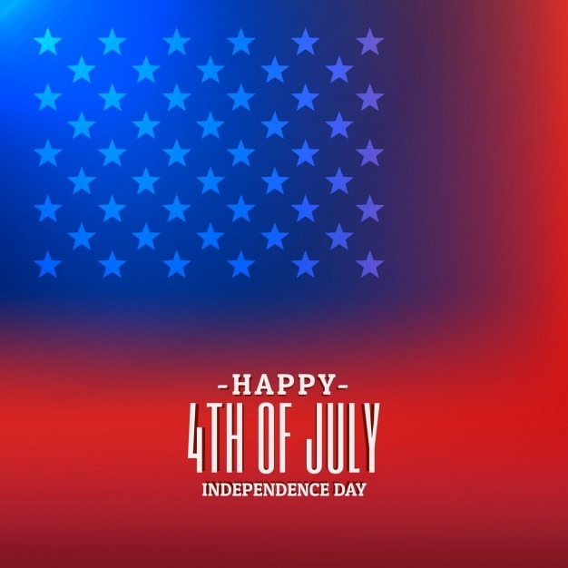 Download Vector 4th Of July Background With American Flag