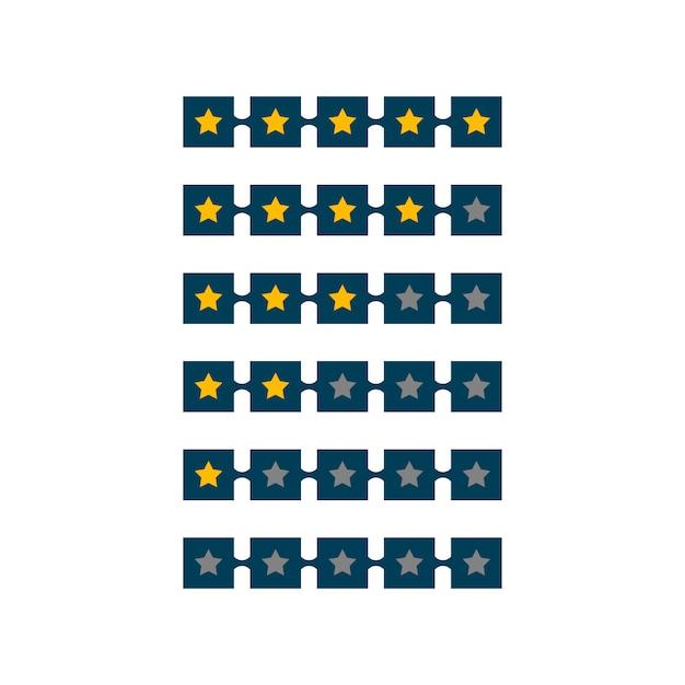 5 star rating symbol design Free Vector