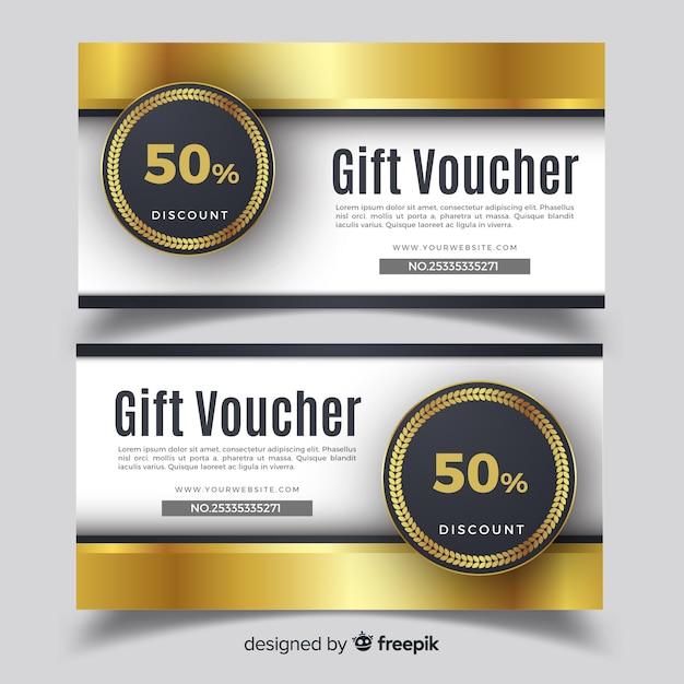 50% gift voucher Free Vector