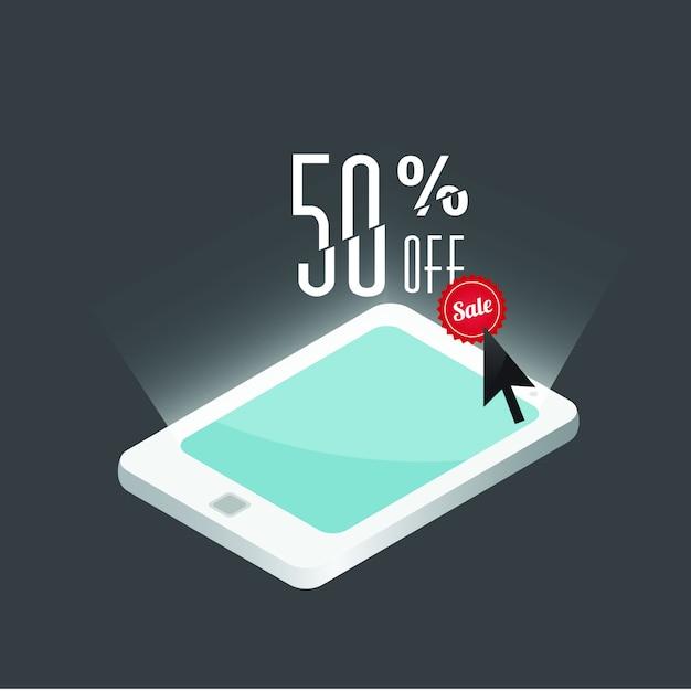 50% скидка, шаблон продажи Premium векторы