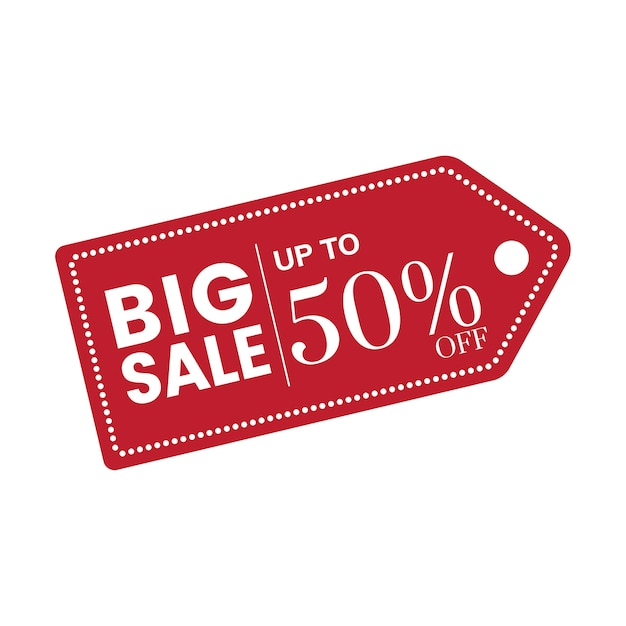 50 percent off sale badge vector Free Vector