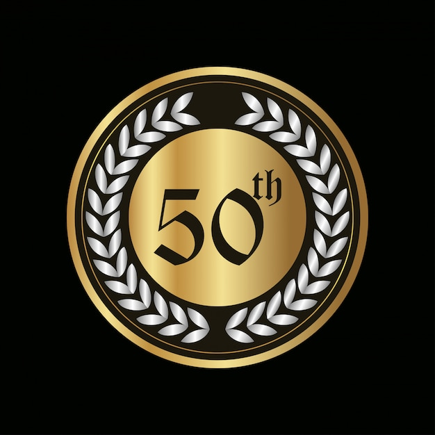 50 year anniversary Badge Free Vector