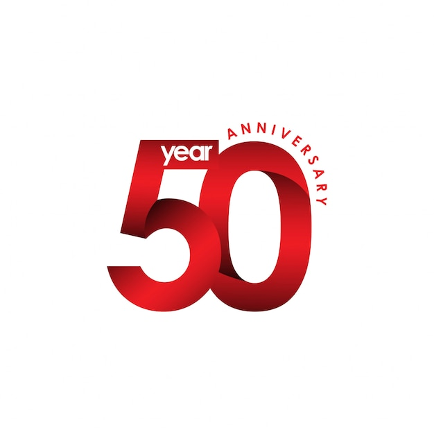 50 year anniversary vector template design illustration Premium Vector