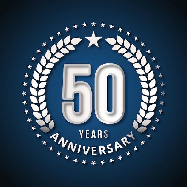 50 years of celebrations design vector Premium Vector