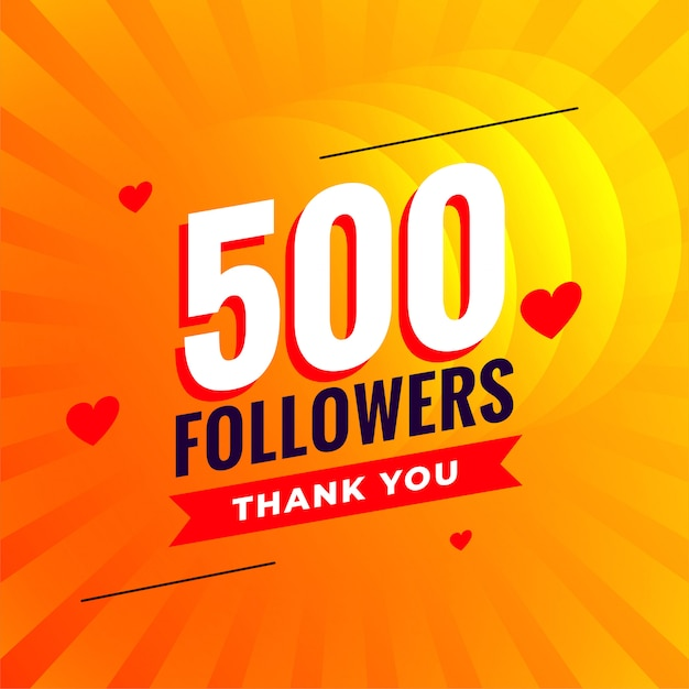 500 followers social media network background Free Vector