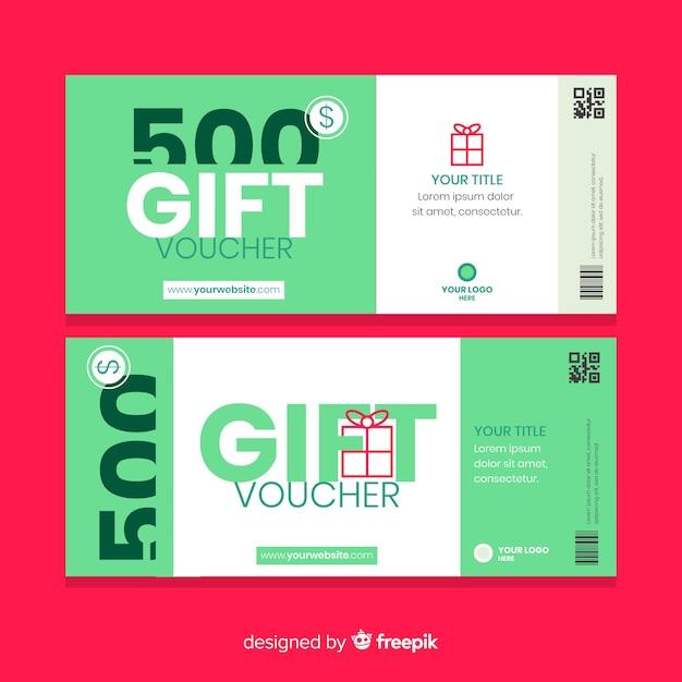 500$ gift voucher Free Vector