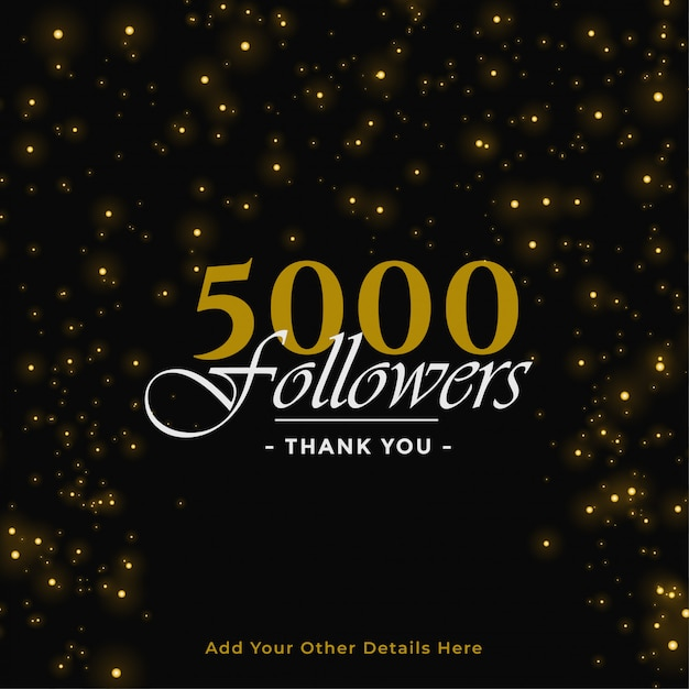 5000 followers banner Free Vector