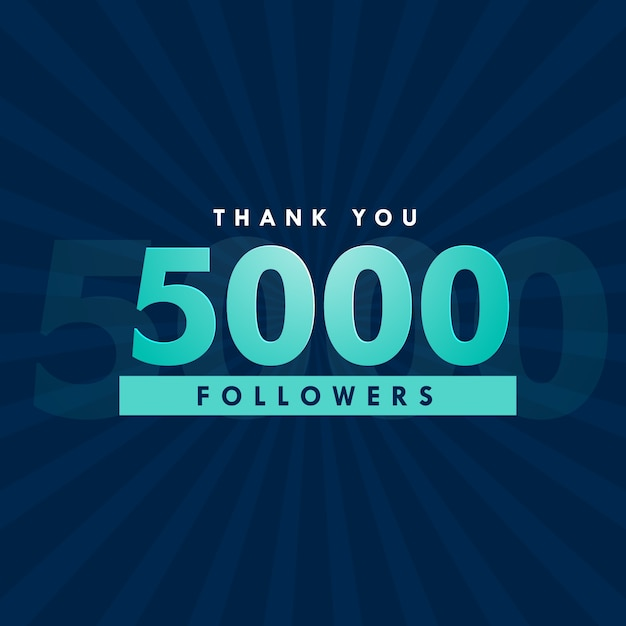 5000 followers design Vector | Free Download