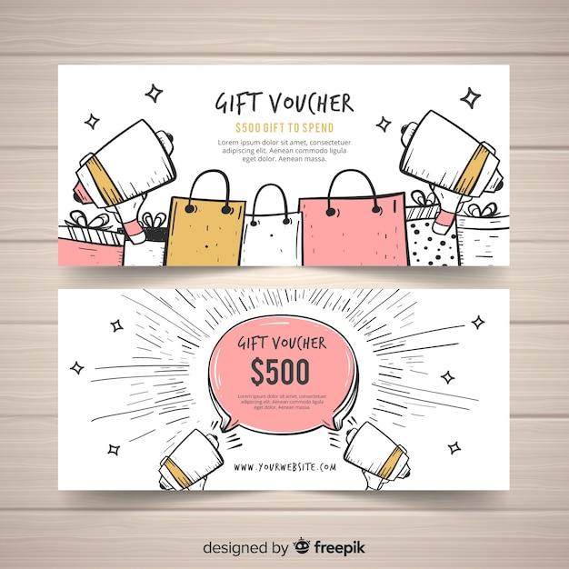 Подарочный вауч 500 $ Бесплатные векторы