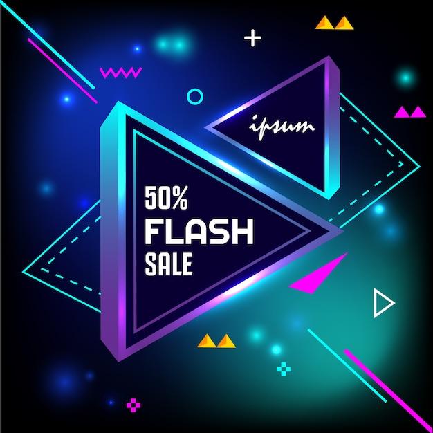 50%フラッシュ販売ライト Premiumベクター