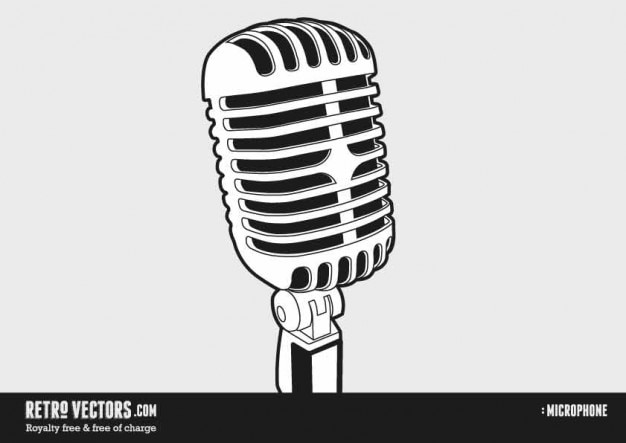 50s and 60s microphone vector free download. Black Bedroom Furniture Sets. Home Design Ideas