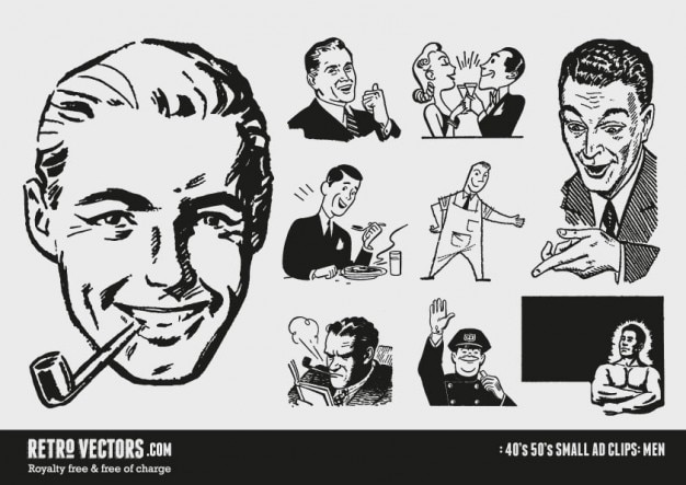 50s small ad clipart Vector | Free Download