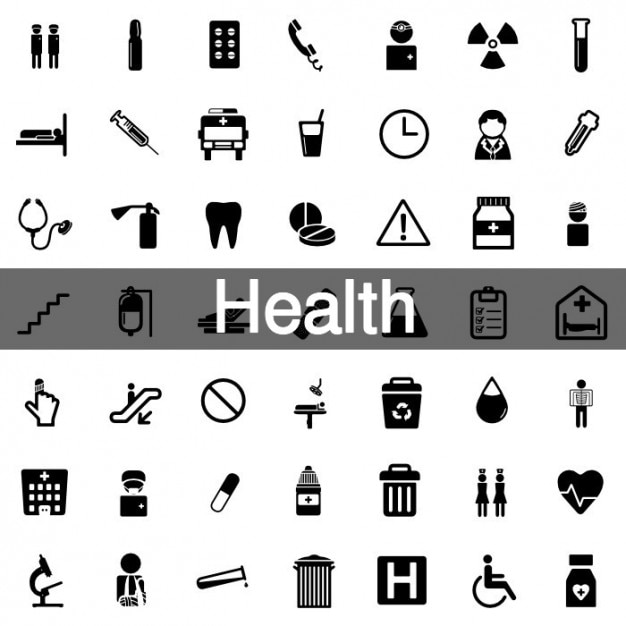 52 Health icon pack Vector | Free Download