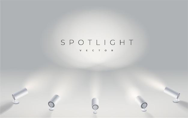 5つのスポットライト Premiumベクター