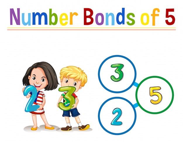 5つの番号の債券 無料ベクター