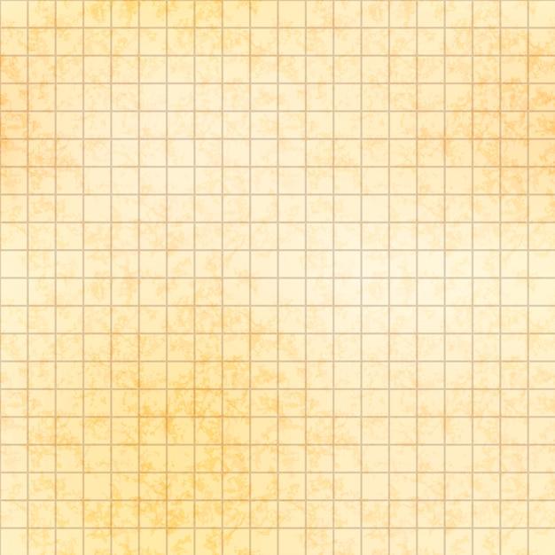 テクスチャ、シームレスなパターンを持つ古い紙の上の5ミリグリッド Premiumベクター