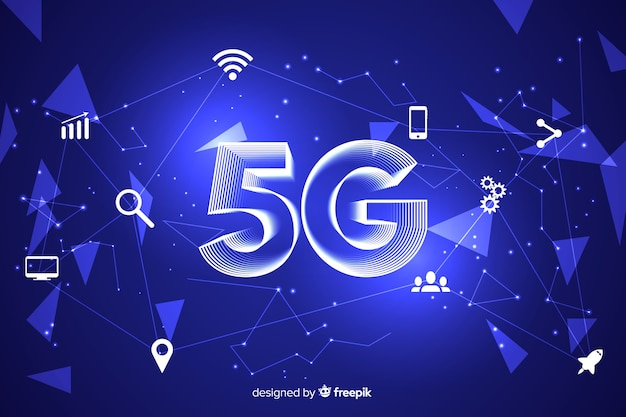 5g concept background with icons Premium Vector
