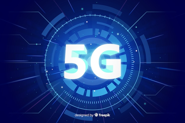 5g concept background Free Vector