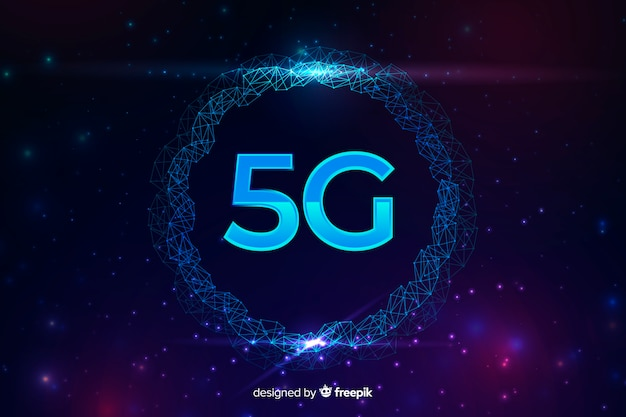 5g internet connection concept background Free Vector