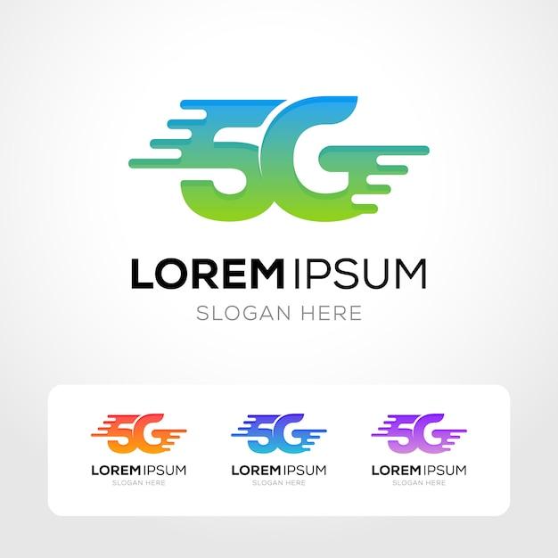 5g internet logo collection Premium Vector