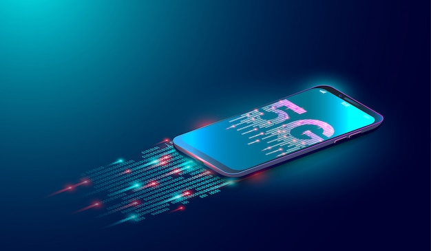5g internet technology background Premium Vector