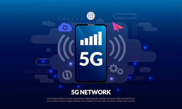 5g mobile network template Premium Vector