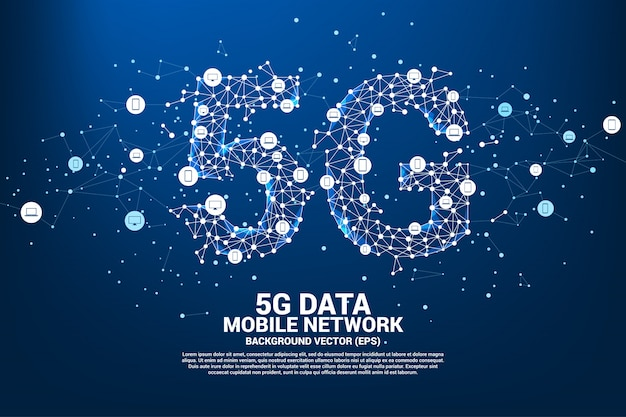 5g mobile networking networking. Premium Vector