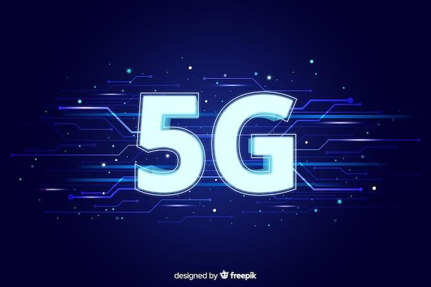 5gネットワークコンセプトの背景 無料ベクター