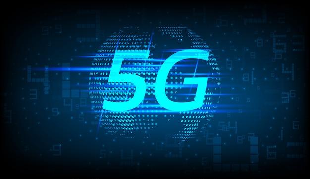 5g new wireless internet connection background Premium Vector