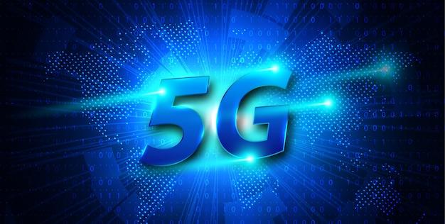 5g new wireless internet wifi connection banner Premium Vector