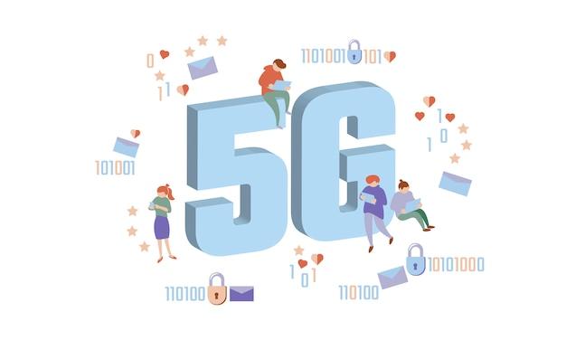 5g new wireless internet wifi connection. Premium Vector