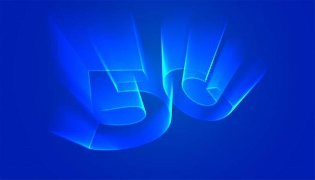 5g technology background with holographic light glow style Free Vector