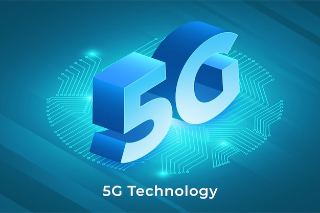 5g technology isometric Premium Vector