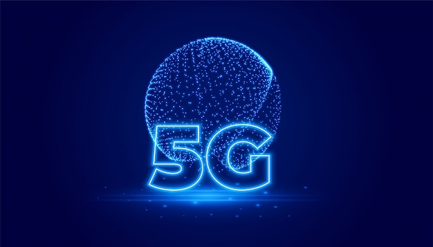 5g telecommunicatitechnology digital background Free Vector