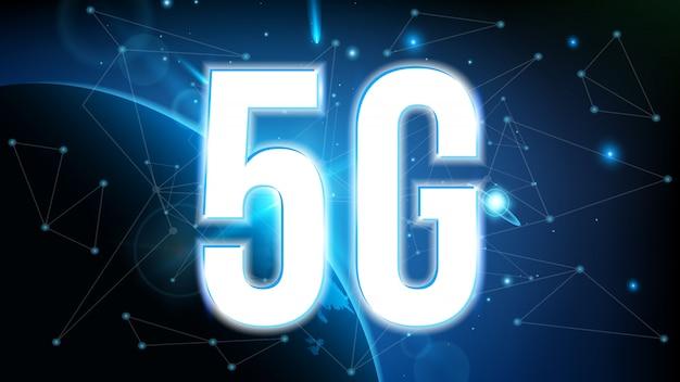 5g信号伝送技術、インターネットwifi。 Premiumベクター