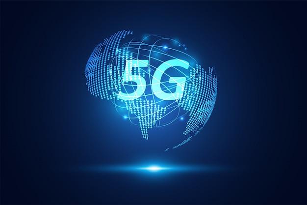 抽象的な5gワイヤレスインターネットwifiネットワーク技術 Premiumベクター