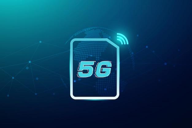 5g無線インターネットwifi接続コンセプト。グローバルネットワーク高速イノベーションデータ技術、ベクトルイラスト Premiumベクター