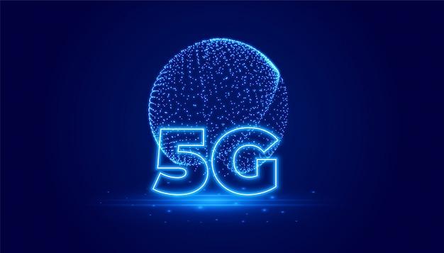 5g телекоммуникационная технология цифровой фон Бесплатные векторы