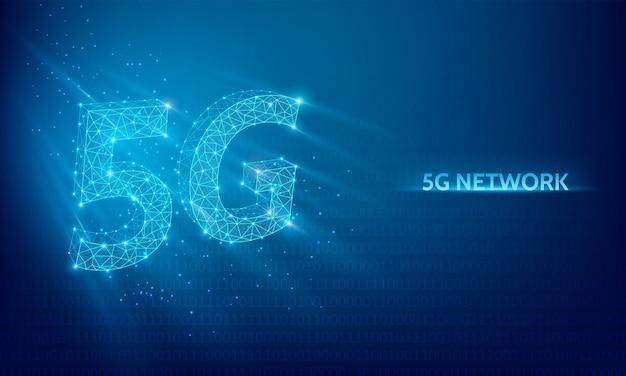 5g сетевые технологии фон Premium векторы