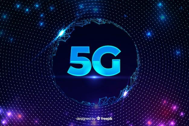 有線ネットでの5gコンセプトの背景 無料ベクター