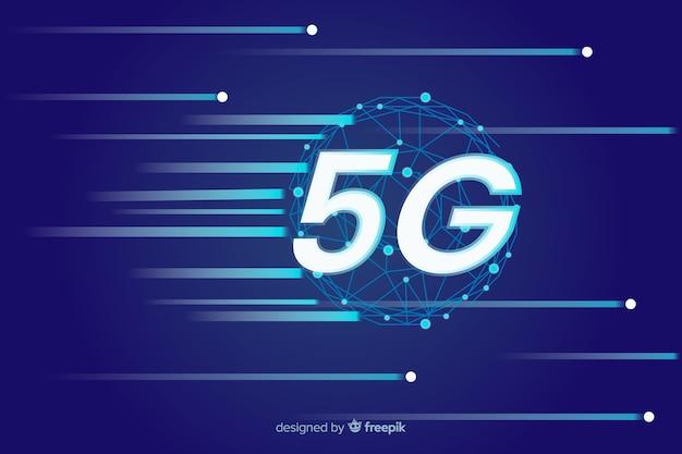 Скорость интернет в 5g концепции фон Бесплатные векторы