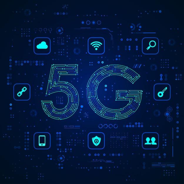 5gテクノロジー Premiumベクター
