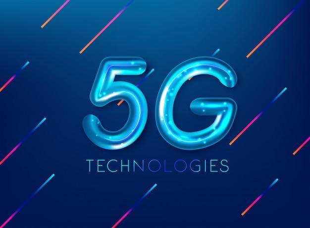 現代の信号伝送技術の5g規格 Premiumベクター
