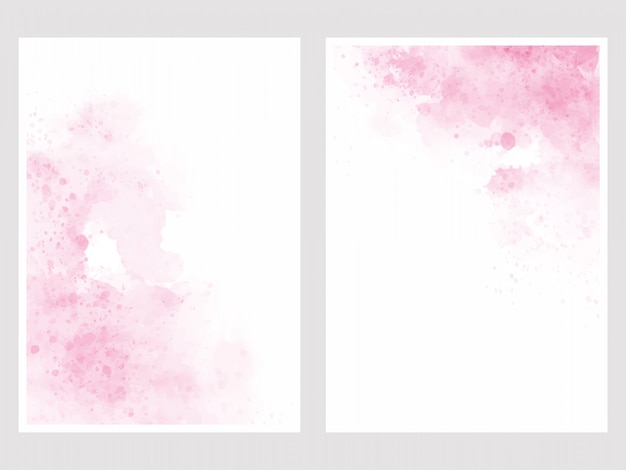 Розовая акварель мыть всплеск 5x7 пригласительный билет фон шаблона коллекции Premium векторы