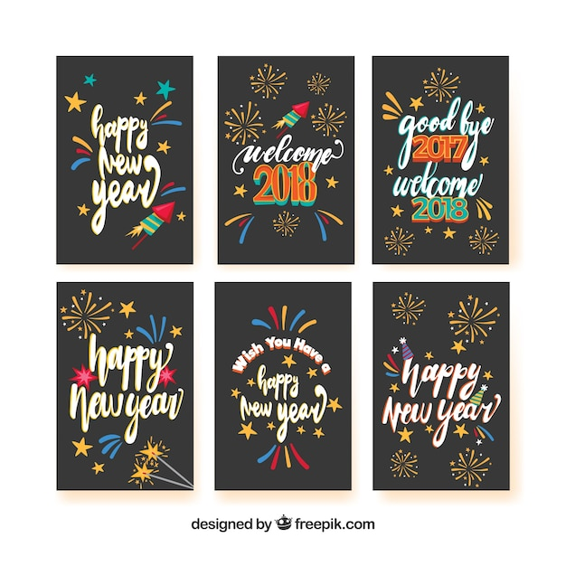 6 cards for a happy new year