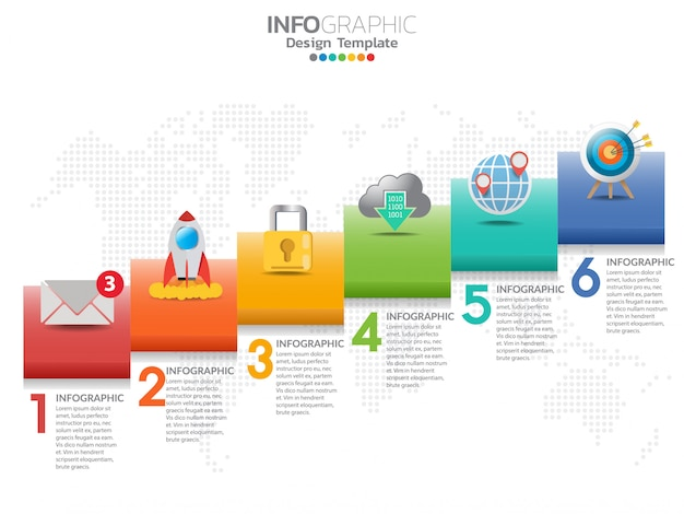 6 parts of presentation business concept Premium Vector
