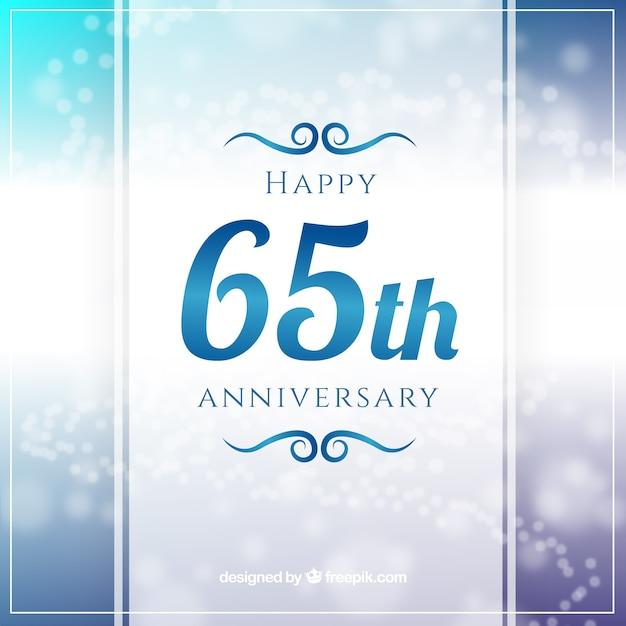 65th annyversary greeting Free Vector