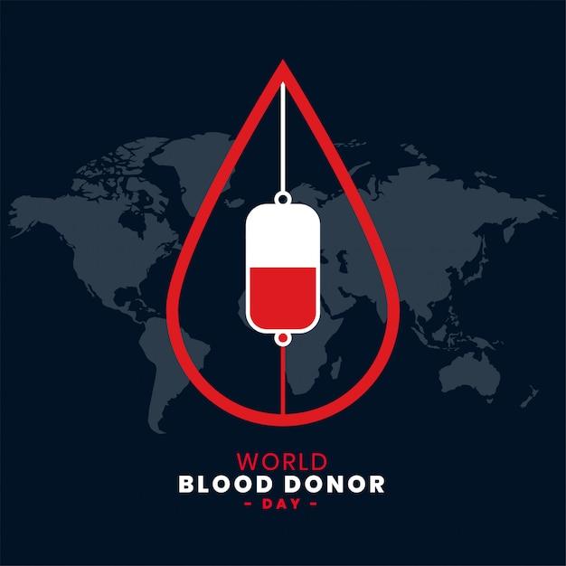 6月世界献血者デーの背景 無料ベクター