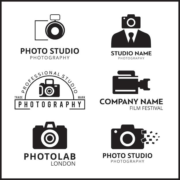写真家6のためのベクトル黒いアイコン 無料ベクター
