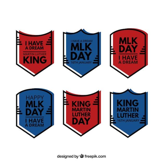 マーティン・ルーサー・キングの日の準備ができて6バッジのパック 無料ベクター